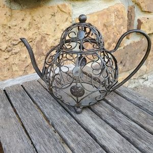 Other - Fun metal teapot home decor